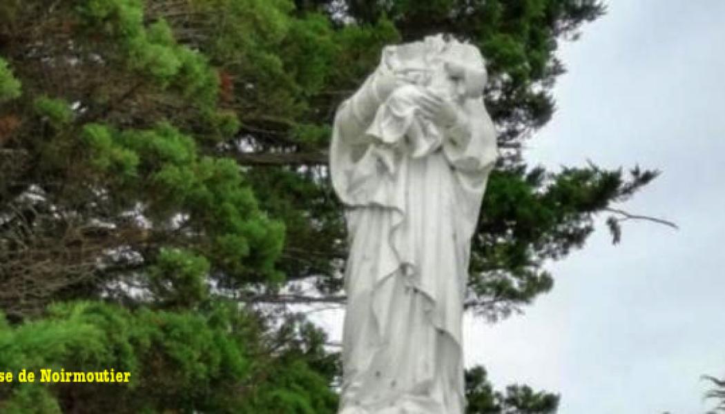 Une statue de la Sainte-Vierge décapitée dans l'Île de Noirmoutier