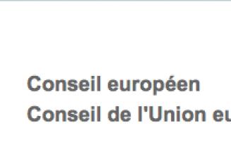 Rififi au Conseil européen