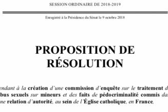 Larésolution sénatoriale pour une enquête parlementaire sur les abus sexuels dans l'Eglise : un acte d'accusation et de condamnation