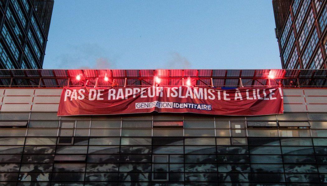 Concert de Médine : Génération Identitaire occupe le toit de la salle l'Aéronef à Lille