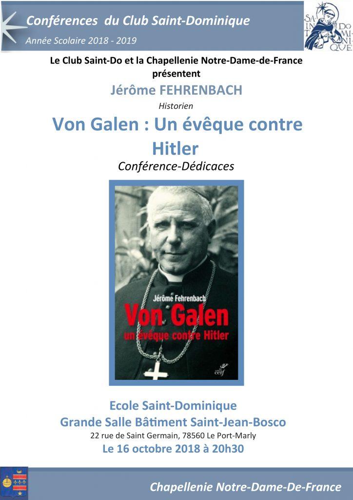 16 octobre conf rence sur mgr von galen un v que - Le salon beige fr ...