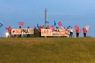 Montpellier, rond point militant : la PMA sans père, c'est non