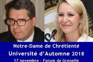 Mais que va faire Marion Maréchal à l'Université de Notre-Dame de Chrétienté ?