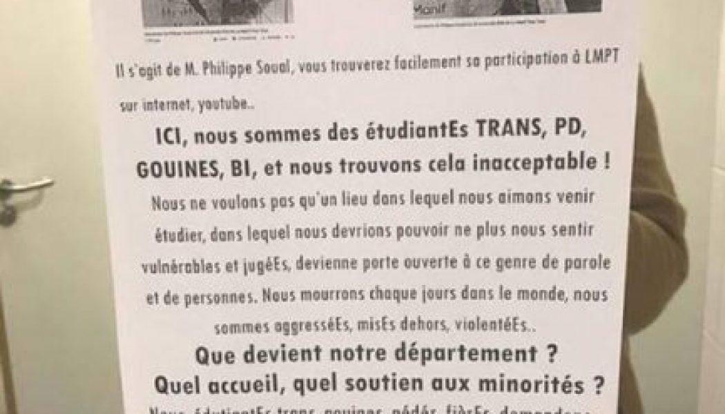 Terrorisme intellectuel au sein de l'université française
