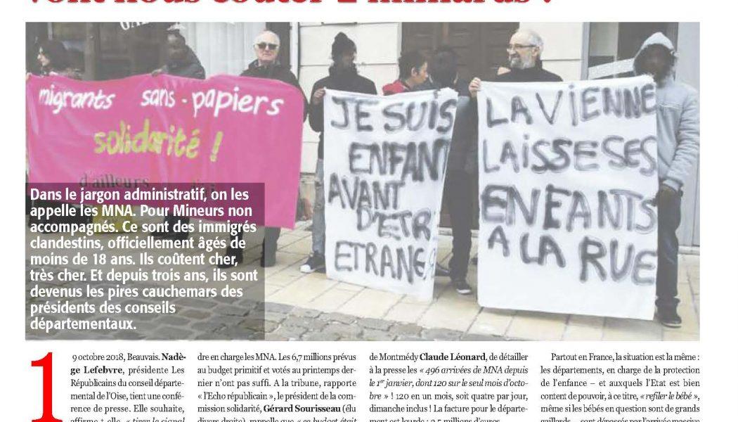 """Les MNA : ces immigrés clandestins """"Mineurs Non Accompagnés"""""""