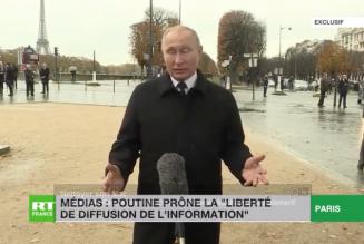 Poutine fustige le traitement réservé à RT par l'Elysée