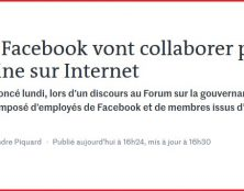 La France et Facebook vont collaborer dans la censure