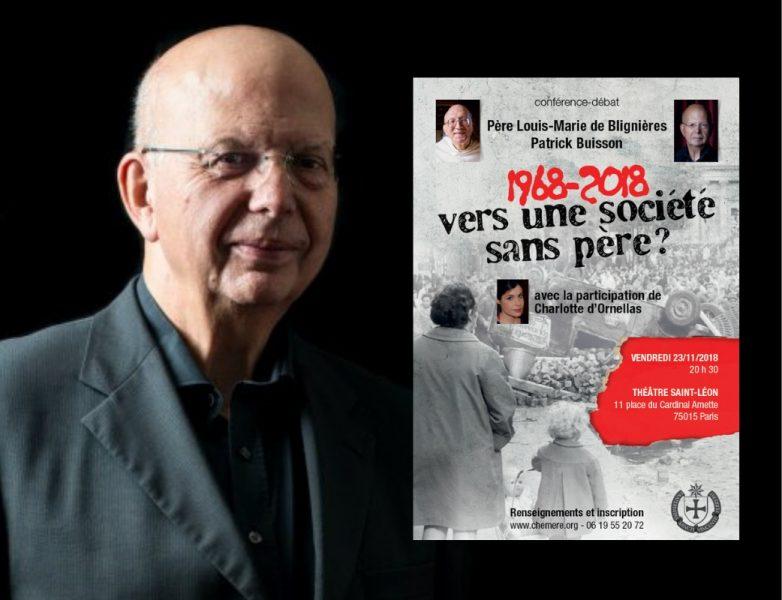 «1968-2018: vers une société sans père?» : entretien exclusif avec Patrick Buisson