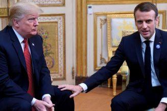 Donald Trump répond aux intox et à Macron