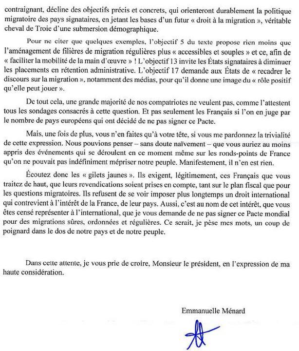 pacte de marrakech lettre ouverte d 39 emmanuelle m nard. Black Bedroom Furniture Sets. Home Design Ideas