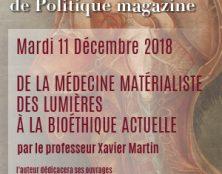 """Conférence de Xavier Martin sur les """"Lumières"""" et la bioéthique"""