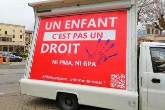 Tarare (69) : Mobilisation contre la PMA