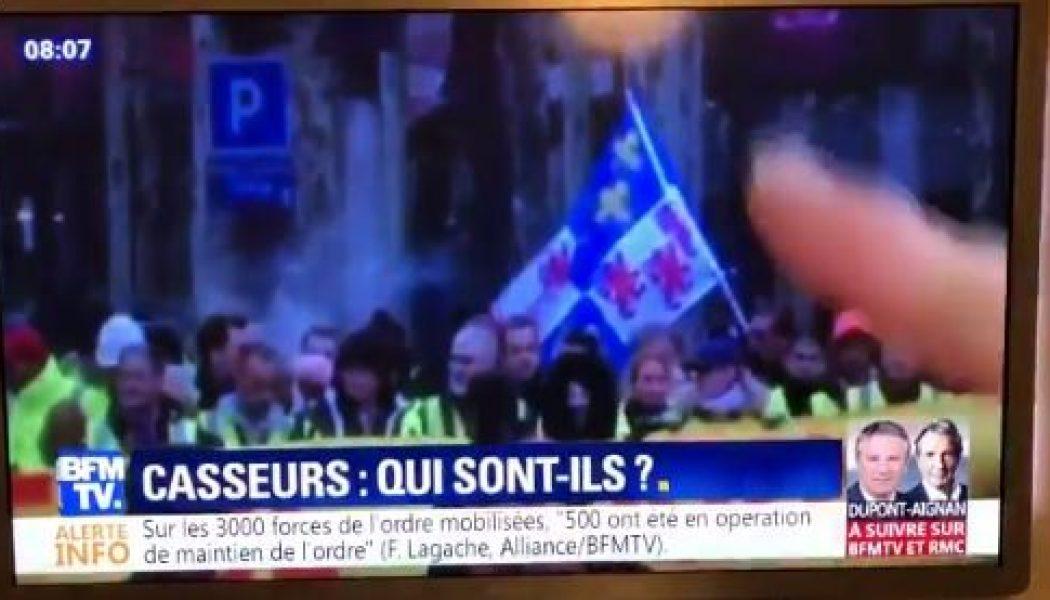 Fausse nouvelle : BFMTV fait du drapeau de la Picardie un drapeau… d'extrême-droite