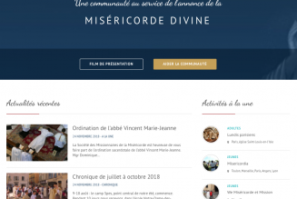 Un nouveau site internet pour les Missionnaires de la Miséricorde