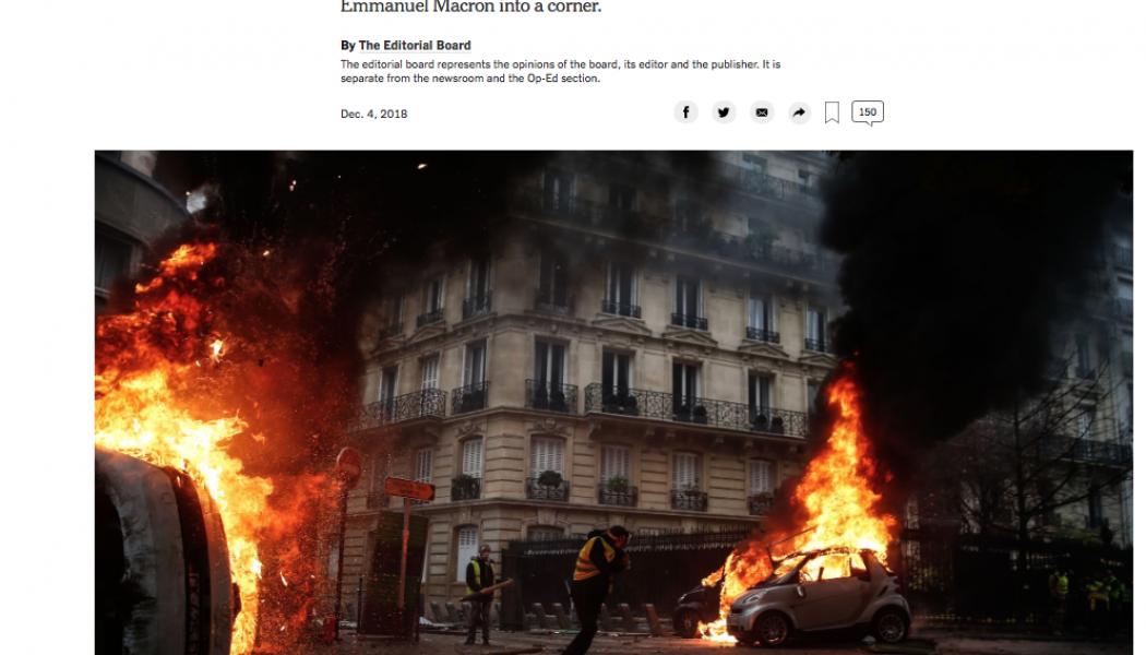 Emmanuel Macron est la risée de la presse américaine
