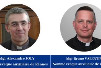 Deux nouveaux évêques auxiliaires