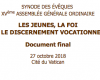 Le document final du synode des évêques enfin en français