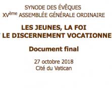 Le document final du synode des évêques enfin en français