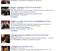 Manifestations : selon que vous serez Gilet jaune ou Hongrois, les médias français vous traiteront différemment