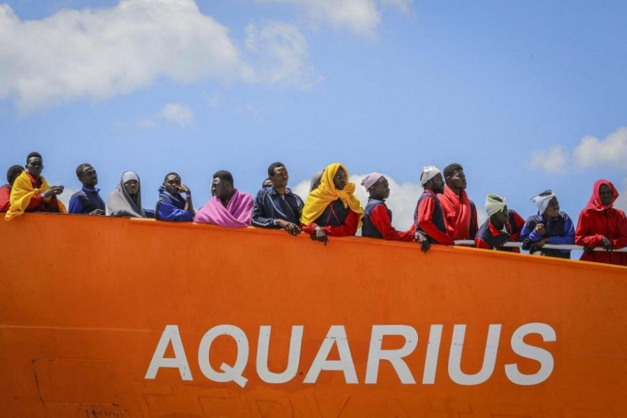 Immigration : l'Aquarius rentre au port