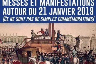 Liste des messes, cérémonies, conférences et manifestations à la mémoire du roi Louis XVI