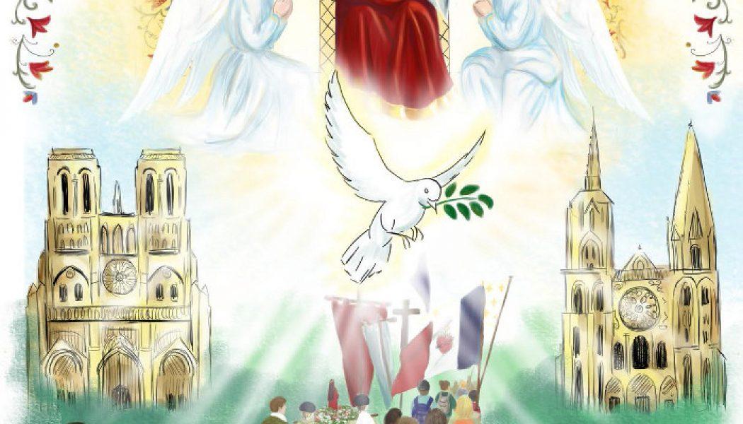 Voici l'affiche du 37e pèlerinage de Notre-Dame de Chrétienté