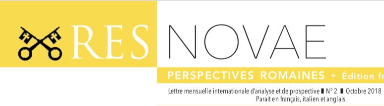 Lettre mensuelle d'information et d'analyse Res Novae