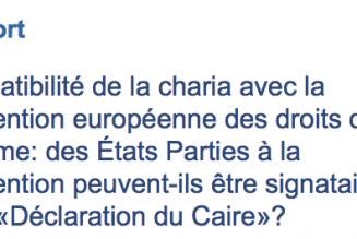 Projet de résolution rappelant l'incompatibilité de la charia avec la Convention européenne des droits de l'homme