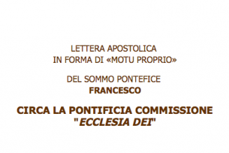 Le Pape supprime la commission pontificale Ecclesia Dei