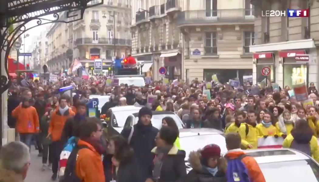 La Marche pour la vie au JT de TF1