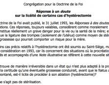 Réflexion sur l'hystérectomie (ablation de l'utérus)