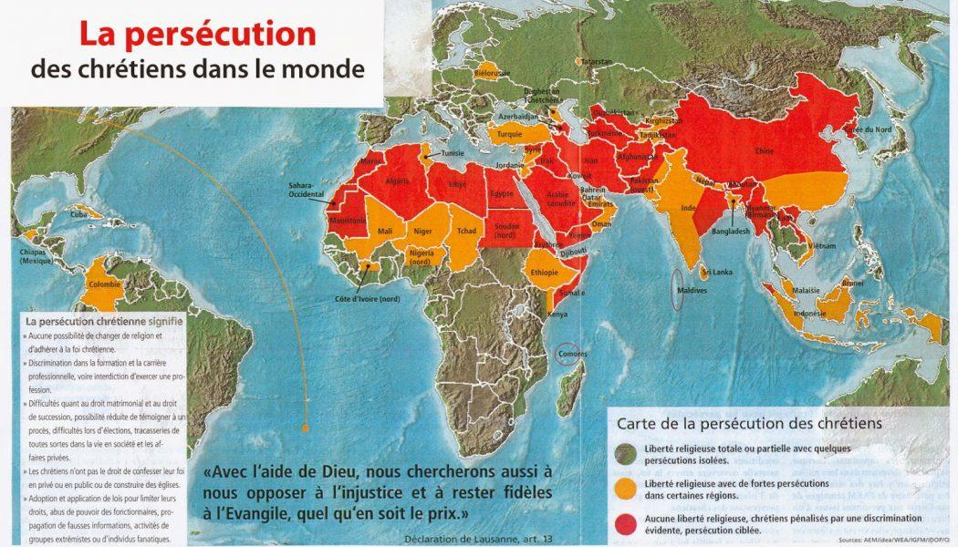 Aujourd'hui, pratiquer la religion chrétienne, en Asie ou au Moyen-Orient peut vous mettre en danger de mort