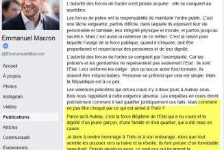 Quand Macron évoquait la force illégitime de l'Etat et défendait un voyou contre les policiers
