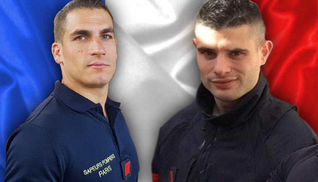 Pompiers de Paris : hommage national au première classe Nathanaël Josselin et au caporal-chef Simon Cartannaz