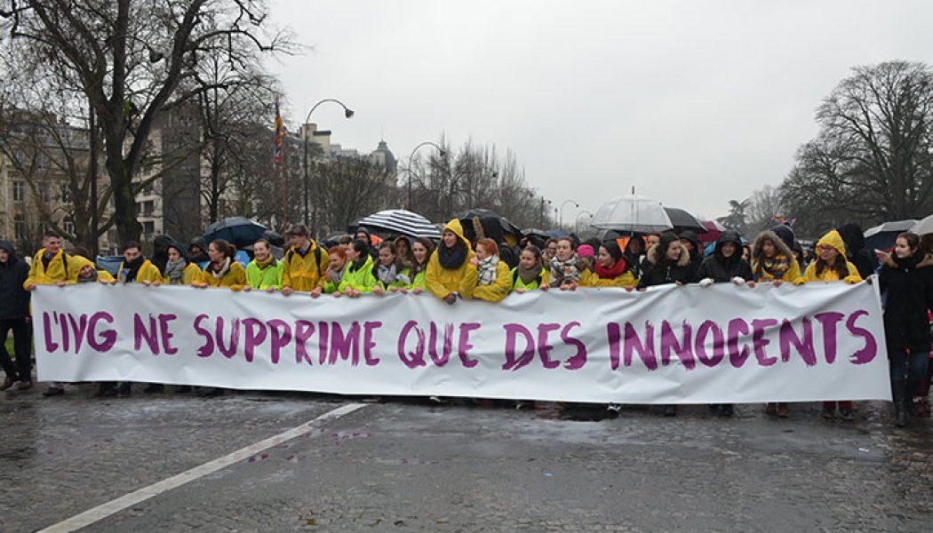 Marche pour la vie : fuyez les micros. Une manifestation n'est pas un lieu pour argumenter. Elle est un argument en soi