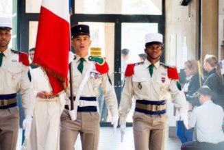 Le 8 janvier à Lourdes, remise du képi blanc aux légionnaires
