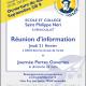 21 février : Réunion d'information du Groupe scolaire St Philippe Néri à Vernouillet 78