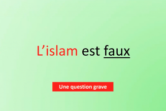 L'islam est faux