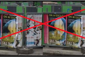 Des barrières anti-affiches… pro-vie