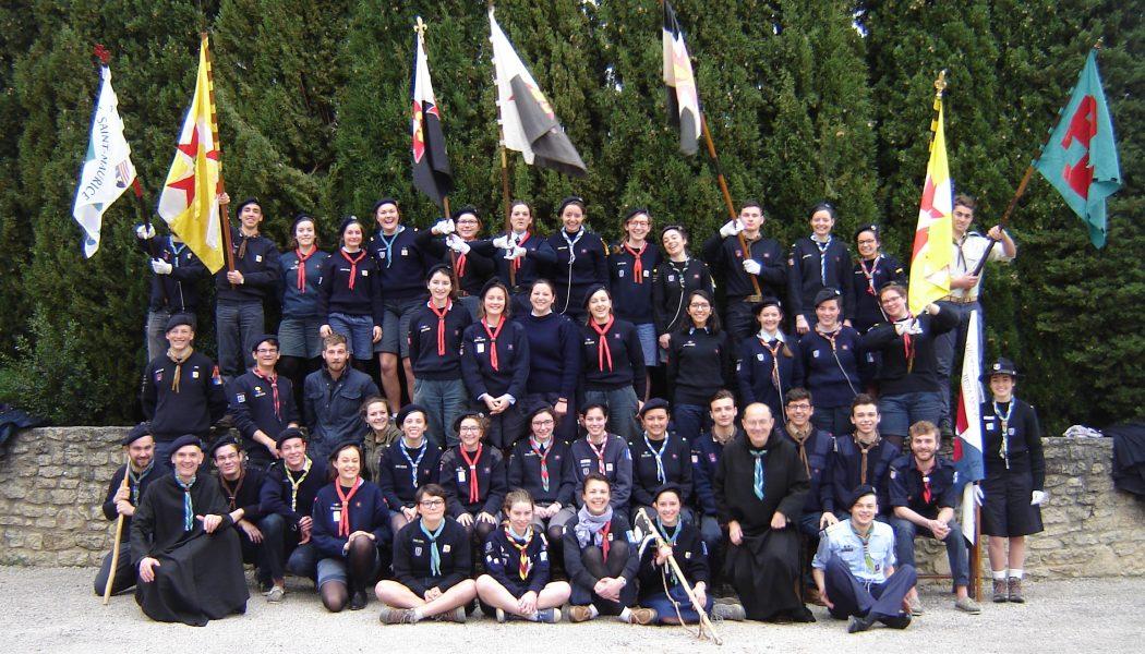 Des scouts de 4 mouvements réunis au Barroux