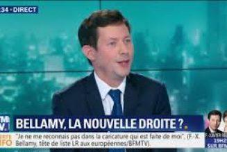 François-Xavier Bellamy se dit plus proche de Macron que de Marine Le Pen pour les européennes [Add.]