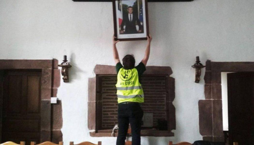 Le vol de portraits d'Emmanuel Macron dans les mairies augmenterait…