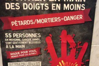 Pétards/Mortiers = danger