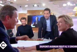 """Nicolas Dupont-Aignan vs Patrick Cohen : """"C'est un macroniste sur le service public qui passe sa vie à cirer les pompes du pouvoir """""""