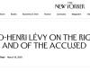 Bernard Henri-Lévy a passé au mauvais quart d'heure avec le New Yorker