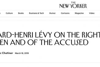 Bernard Henri-Lévy a passé un mauvais quart d'heure avec le New Yorker