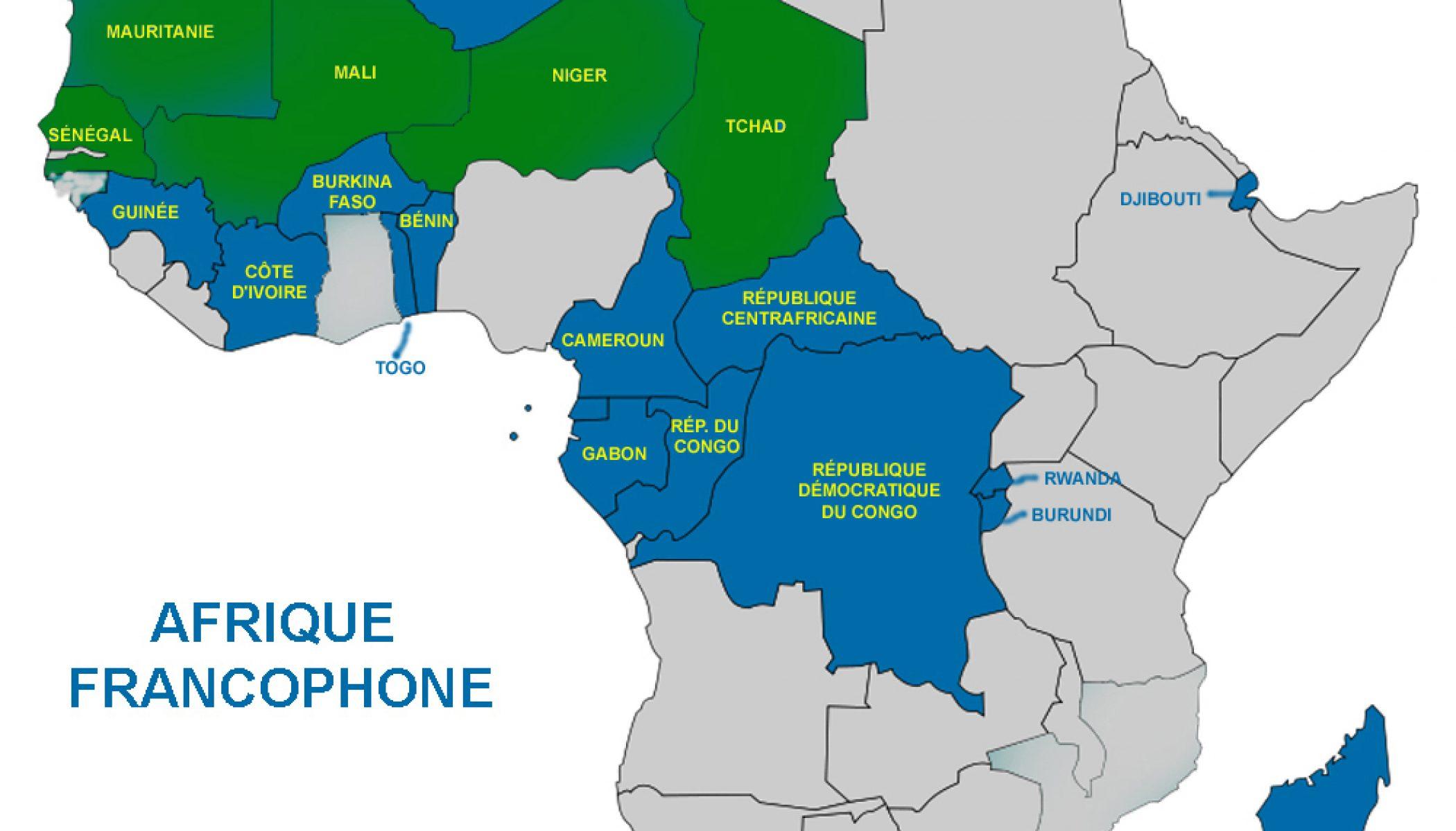 Carte De Lafrique Francophone.L Afrique Subsaharienne Francophone Est Le Moteur De La