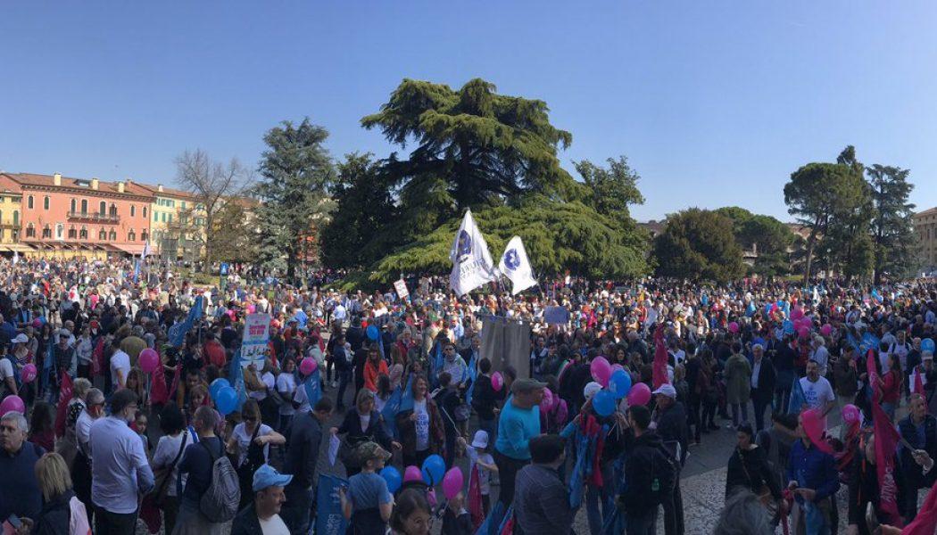 Marche pour la famille à Vérone