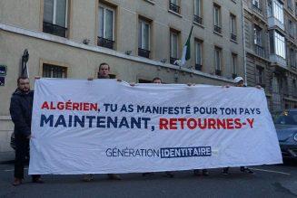 Génération Identitaire ce matin devant le consulat d'Algerie