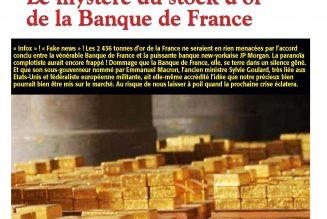 Le mystère du stock d'or de la Banque de France